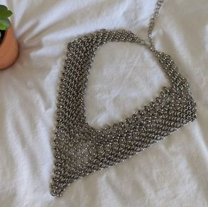 Nordstrom Chain Mail Statement Necklace